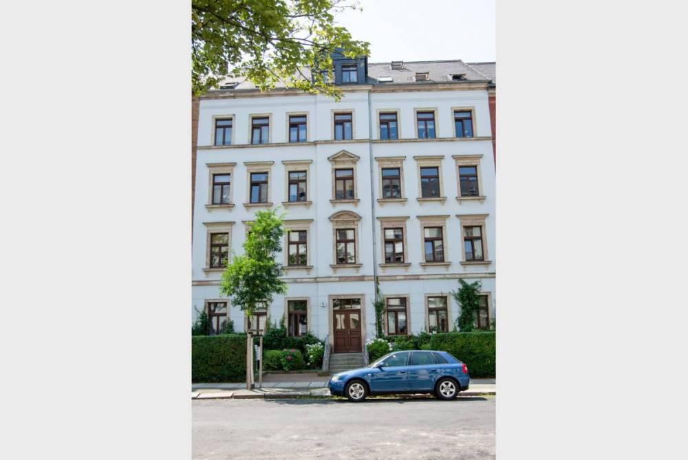 Wohnung mit Parkett und Südbalkon zum grünen Innenhof